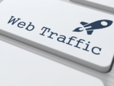 "Touche de clavier avec l'inscription ""web trafic"""